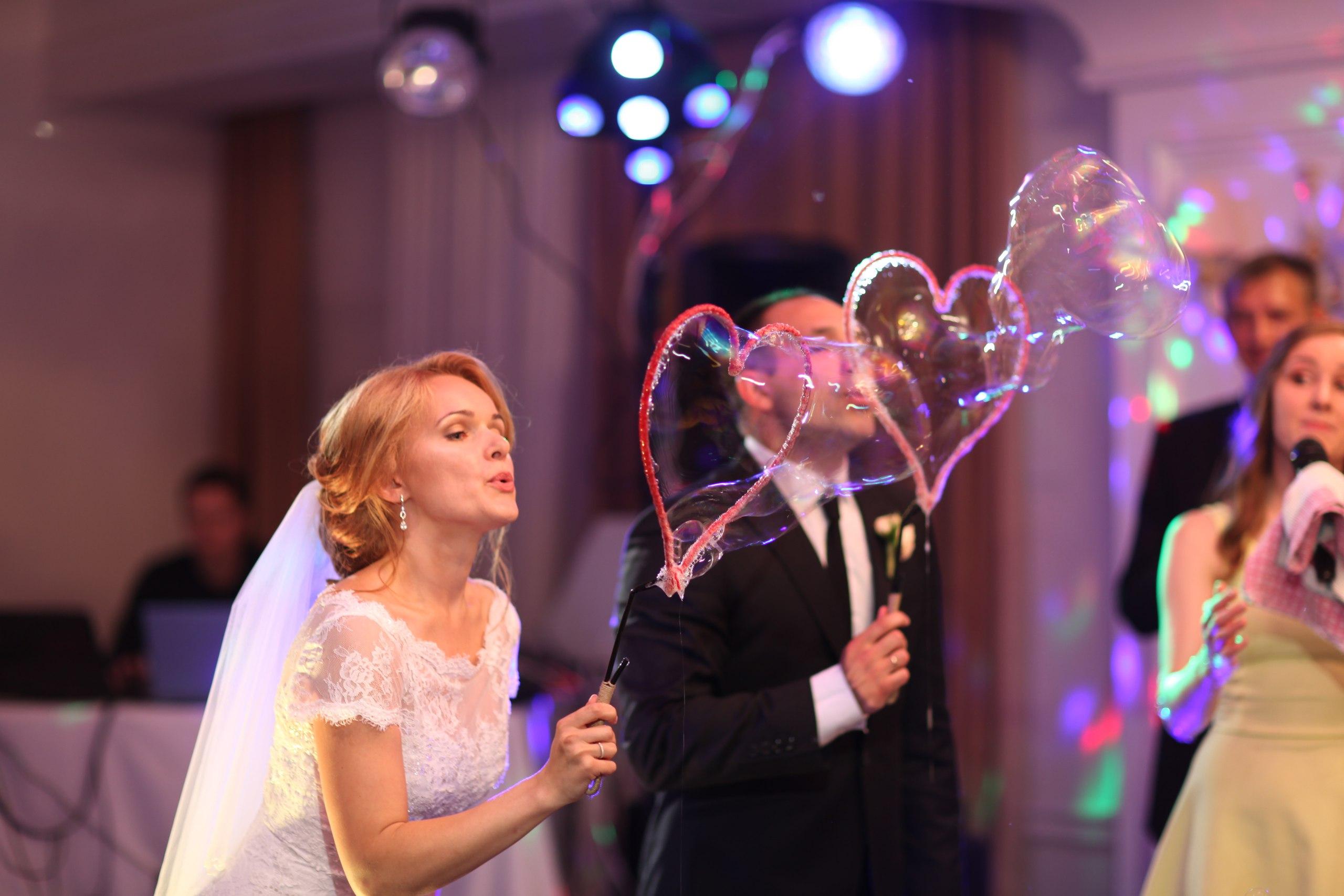 Шоу мыльных пузырей на свадьбу Иваново